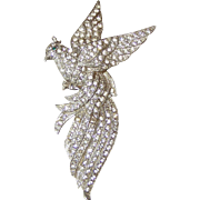 REDUCED Large Bird of Paradise Rhinestone Brooch
