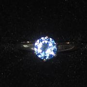 SALE Vintage 10K Blue Topaz Ring