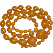 REDUCED Genuine Baltic Egg Yolk Amber Beads Necklace