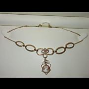 Vintage Cameo Gold Filled Necklace