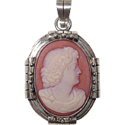 REDUCED Victorian Hardstone Cameo Pendant Aesthetic Period