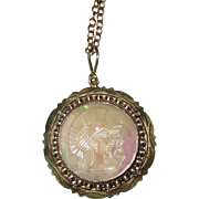 Vintage Mother of Pearl Cameo Pendant