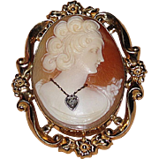 REDUCED Wonderful Perfect Gift Vintage Cameo Brooch and Earrings