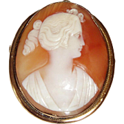 REDUCED Victorian Cameo of a Woman