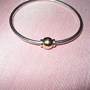 SOLD Vintage Cape Cod Bracelet Sterling Gold Small