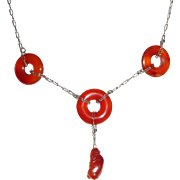 REDUCED Art Deco Carnelian Necklace