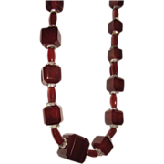 REDUCED Genuine Carnelian Agate Cut Beads Square
