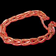 REDUCED Vintage Gold Filled Charm Bracelet
