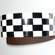 REDUCED Black and White Thermoset Plastic Bracelet