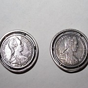 Maria Theresa Coin Earrings Clips