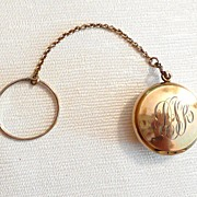 REDUCED Vintage Chatelaine Compact Tiny