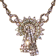 SALE Vintage Corocraft Rhinestone Necklace