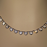 SALE Vintage Crystal Choker Necklace