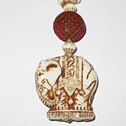 REDUCED Vintage Art Deco Czech Glass Beads Elephants