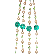 REDUCED Set Long Beads and Earrings Must See Green