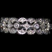 REDUCED Gorgeous Estate Platinum Diamond Band Ring Size 7