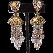 Gorgeous Rhinestone Tassel Earrings