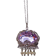 Art Deco Filigree Pendant Lavender