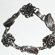 SALE Vintage Sterling Silver Floral Bracelet