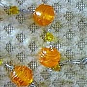 Vintage Carved Bakelite Beads Necklace
