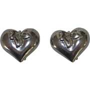 Vintage Givenchy Heart Clip Earrings