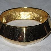 SALE Chunky Vintage Givenchy Wide Goldtone Bracelet