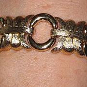 SALE Vintage Chunky Givenchy Goldtone Bracelet
