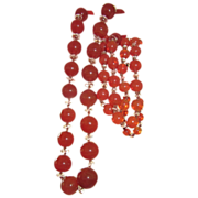 REDUCED Beautiful Flapper Glass Beads