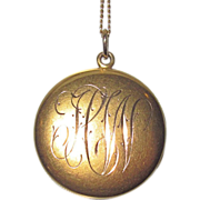 REDUCED Victorian Gold Locket Engraved