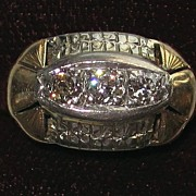 REDUCED Vintage 14K Gold and Diamonds Ring