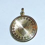 REDUCED The Great Seal of the United States 14K Gold Locket