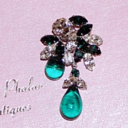 REDUCED Gorgeous Rhinestone Brooch and Earrings