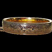 SALE Beautiful Vintage Gold Filled Taille d'Epargne Bracelet