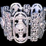 REDUCED Italy 800 Silver Gargoyle Bracelet Wide
