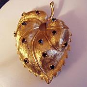 Bright Golden Jomaz Leaf Brooch