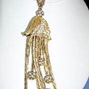 SALE Gorgeous Designer Long Chain Drop Necklace Pendant