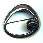 REDUCED Finland Kaunis Koru Sleek Modern Sterling Brooch