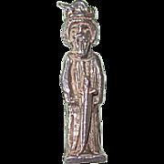 REDUCED Vintage Sterling Large King Arthur Charm or Pendant