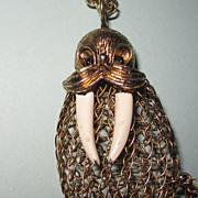 Large Vintage Walrus Pendant