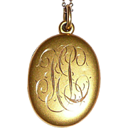 REDUCED Antique Gold Filled Locket