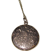 SALE Beautiful Victorian Engraved Locket Gold Filled
