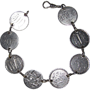 REDUCED Wonderful Victorian Love Token Bracelet 8 Tokens