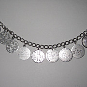 REDUCED Outstanding Victorian Love Token Bracelet Ten Tokens