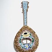 Vintage Mosaic Pin Mandolin