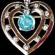 REDUCED Mazer Vintage Heart Brooch