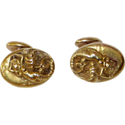 REDUCED Art Nouveau Mermaid Cufflinks