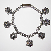 REDUCED Vintage Mexican Silver Charm Bracelet
