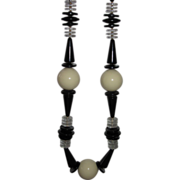 REDUCED Wow Black and Cream Vintage Beads