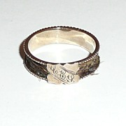 REDUCED Victorian Rose Gold Woven Hair Memorial Ring