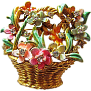 My Fair Lady BSK Basket of Flowers Brooch